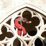 Improvisation en robe dans le cloître de l'abbaye