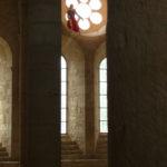 Improvisation dans une rosace de l'abbaye